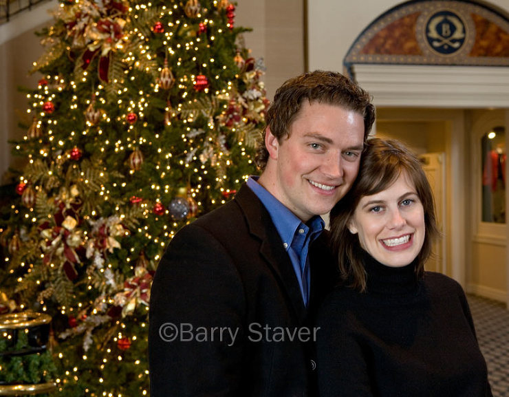 One of the magnificent trees at the 5-Star Broadmoor Hotel in Colorado Springs, CO provided this backdrop.