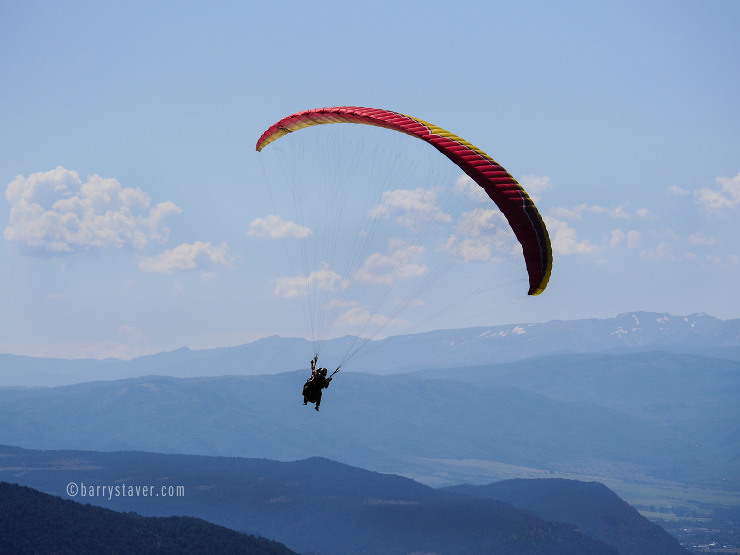 Tandem Paragliding above Glenwood Spgs, CO